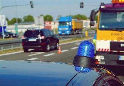 Jeździł z niebieską lampą przeznaczoną dla policji
